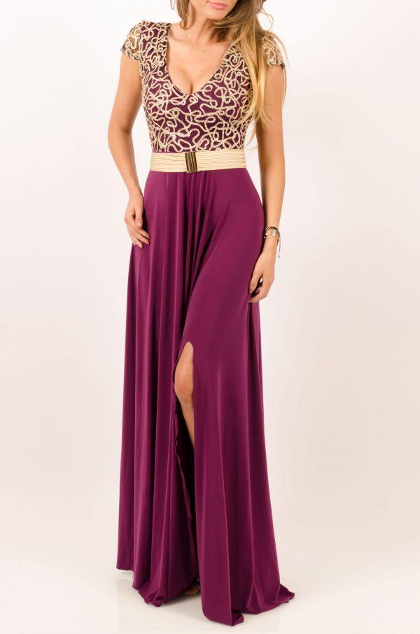rochie eleganta mov
