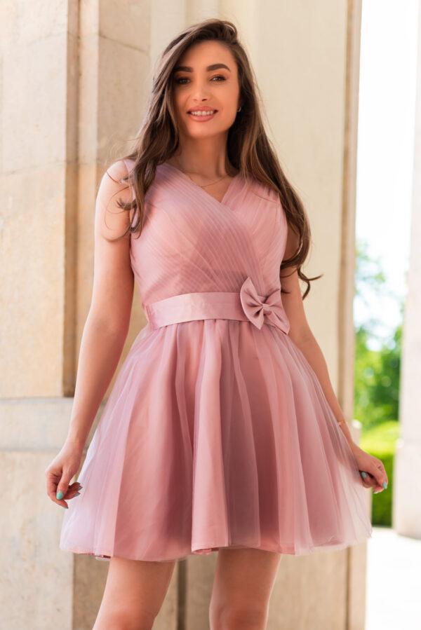 rochie nunta roz